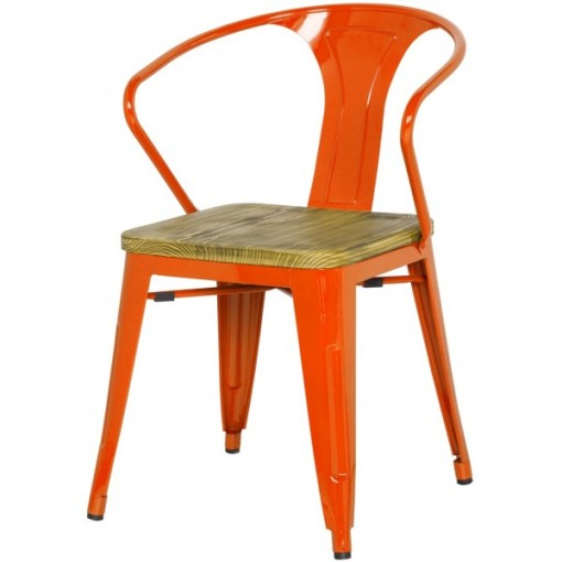 426-10996-Metropolis Arm Chair Orange