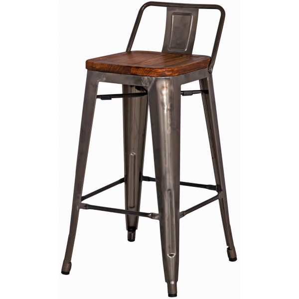 Metropolis Low Back Counter Stool Sagamore Bay
