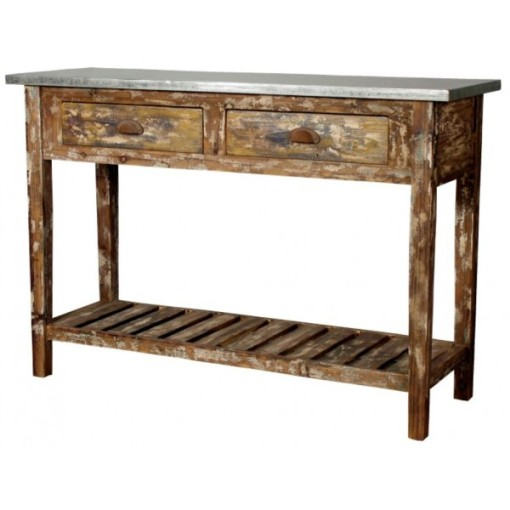 83-10024-Tuscany Metal Top Console