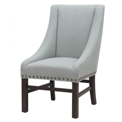 Aaron sloping arm chair - powder blue