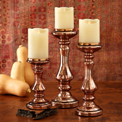 Copper Looking Candle Holders Fall