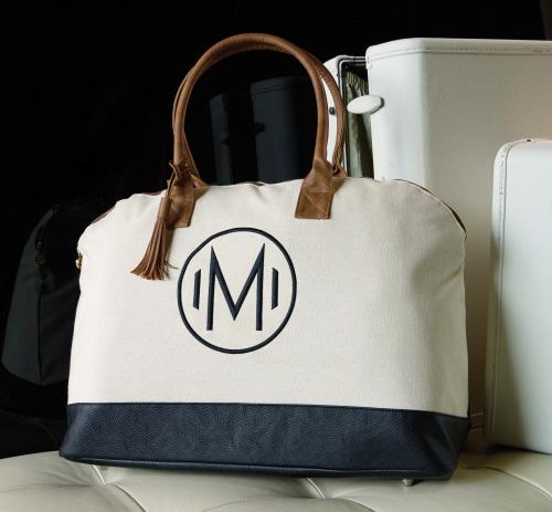 Initial Monogrammed Weekender Bag