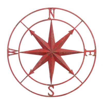 Metal Compass Wall Plaque