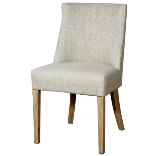 Paris Fabric Chair natural wood leg