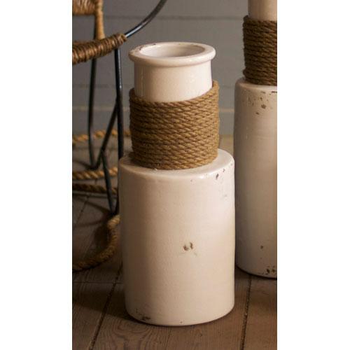 White Medium Vase Ceramic Kalalou