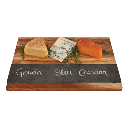 Wood and Slate Cheese Board
