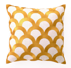 scales pillow citron