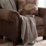 Brown Herringbone Throw