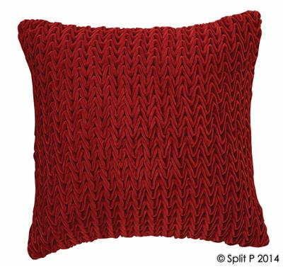 Florentina Vevet Pillow Red