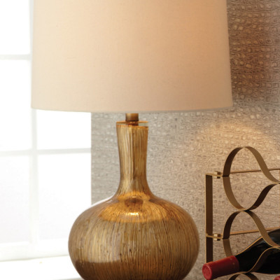 Gold Striae Lamp