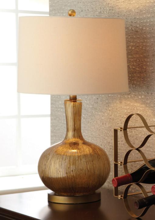 Gold Striae Lamp