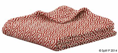 Red Cream Throw