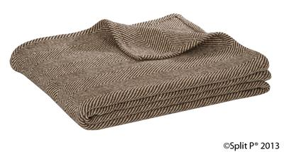 Sand and Bone Herringbone Throw