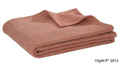 Sand and Cinamon Herringbone Throw