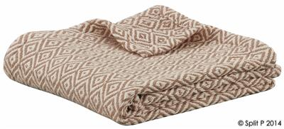 Sand and Natural Diamond Throw