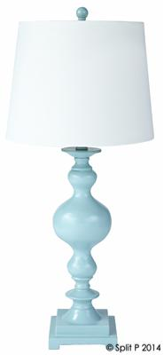 Spa Blue Lamp w Shade