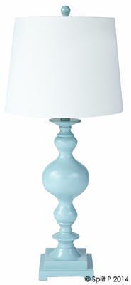 Spa Blue Lamp w Shade