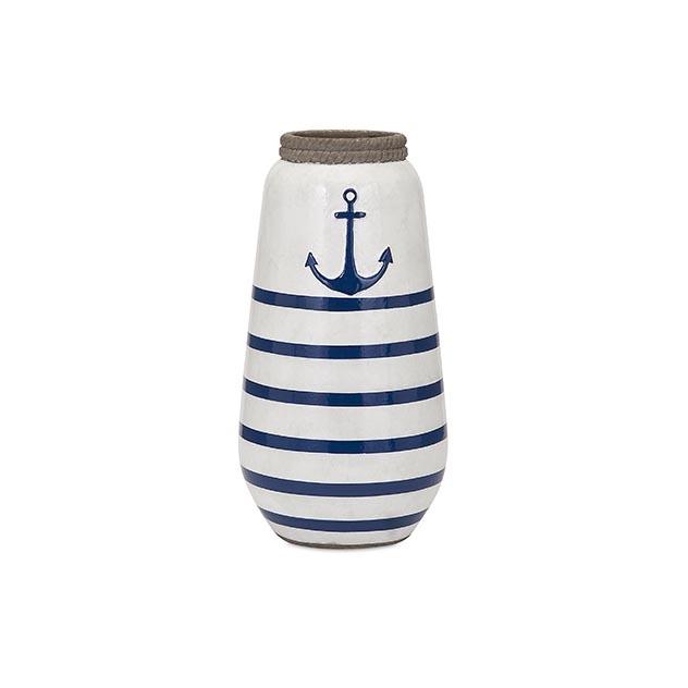Anchor Small Handpainted Vase Sagamore Bay