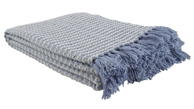 Blue Lattice Throw