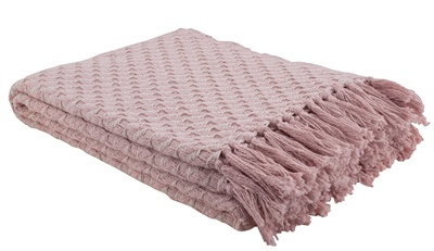 Blush Twill Weave Throw