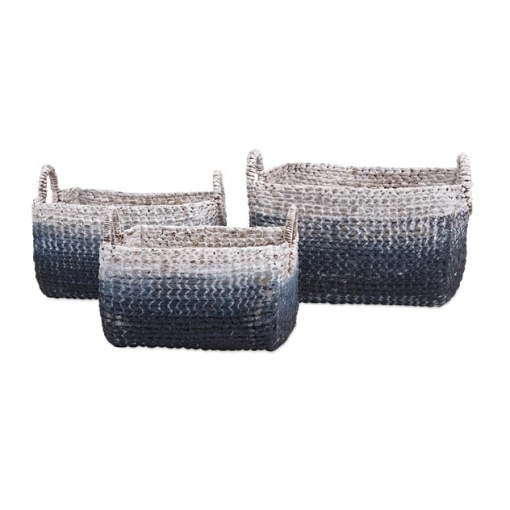 Cascase Woven Water Hyacith Baskets