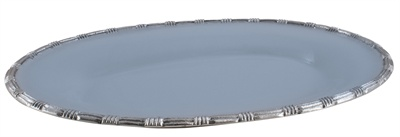 Cornflower Enamel Rope Border Oval Platter