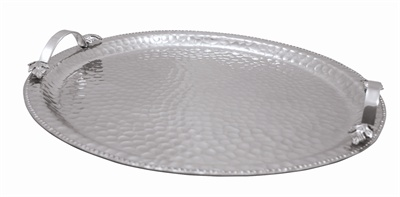 Hammered Round Tray