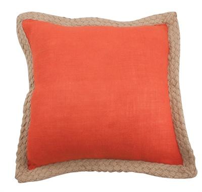 Jute Braid Orange Pillow