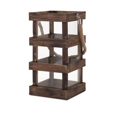 Nima Wood Lantern Tall